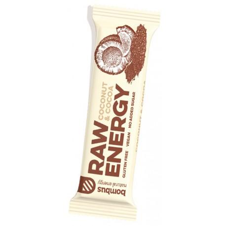 Tyčinka Bombus Raw Energy s příchutí Kokos a kakao