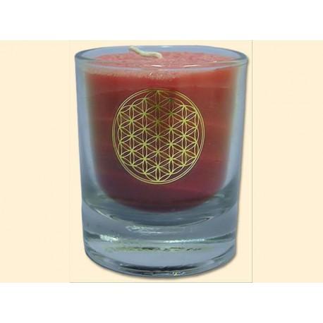 Mini čakrová svíčka  - červená