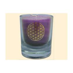 Mini čakrová svíčka  - fialová