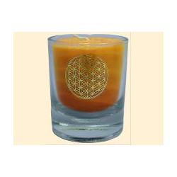 Mini čakrová svíčka  - oranžová