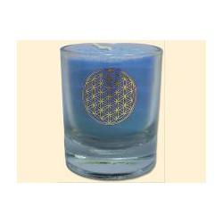 Mini čakrová svíčka  - světle modrá