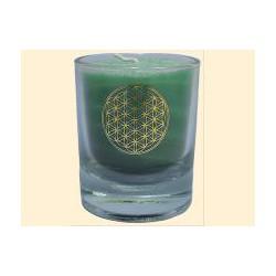 Mini čakrová svíčka  - zelená