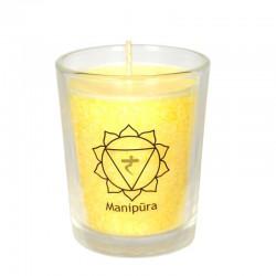 Mini čakrová svíčka  - žlutá