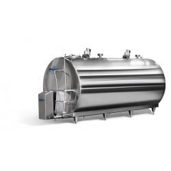 horizontální tank  na mléko 1000l